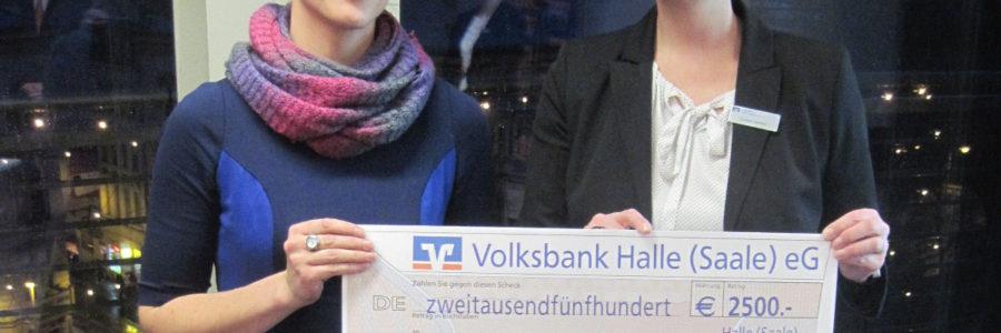 Spende der Volksbank Halle (Saale) eG
